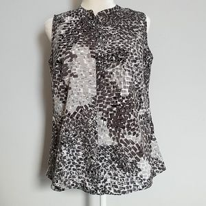 Apt 9 Sleeveless Button Up Blouse Size MP